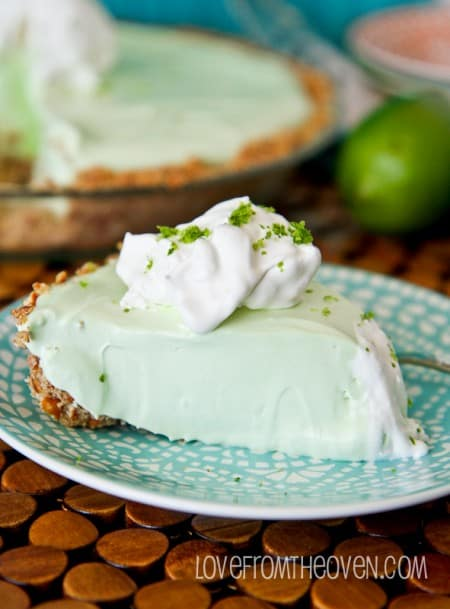 Margarita Pie With A Pretzel Crust. One of the best desserts I've ever had, perfect for Cinco De Mayo.