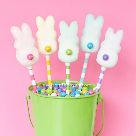 Love From The Oven Chocolate Bunny Pops