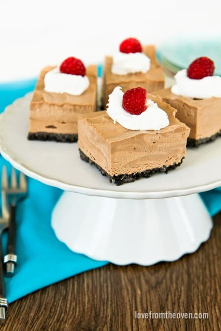 Love From The Oven Chocolate Mousse Squares-5