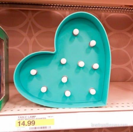 Heart Light at Target