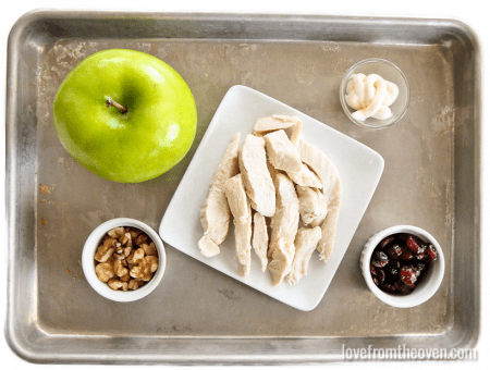 Chicken Apple Walnut Cranberry Salad