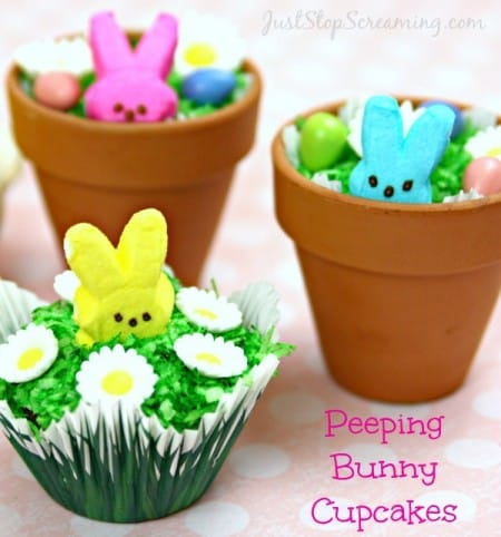 Peeping Bunny Cakes