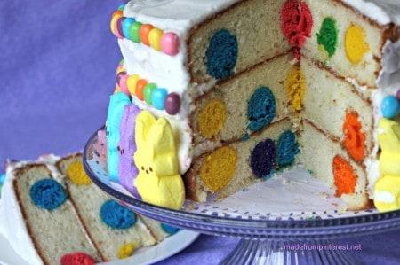 Peeps Polka Dot Cake