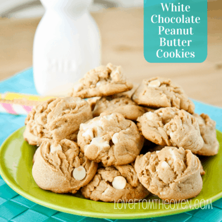 Peanut Butter White Chocolate Cookies
