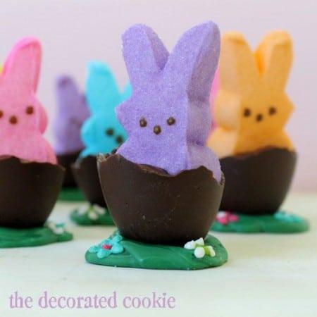 Peeps In Chocolate Eggs