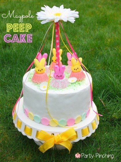 Cute Peeps Cake