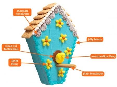 Peeps Birdhouse Cake