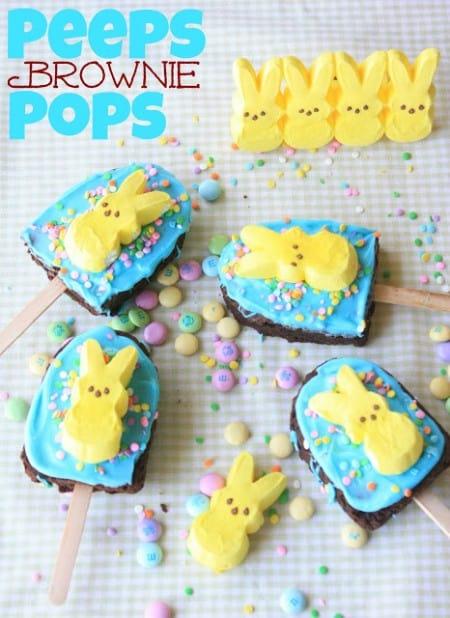 Brownie PEEPS Pops