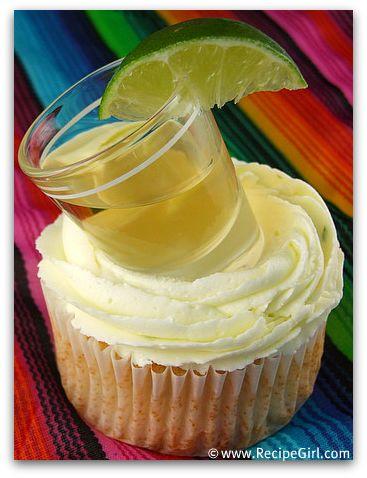 Tequila Shot Margarita Cupcakes