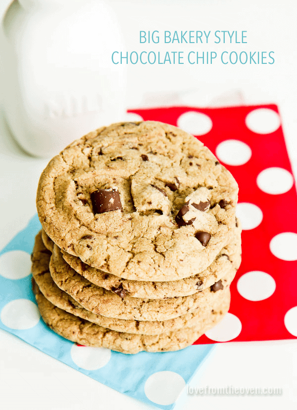 ... cookies. Big, yummy, delicious bakery style chocolate chip cookies