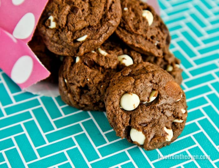 Chocolate Overload Cookies - Love From The Oven