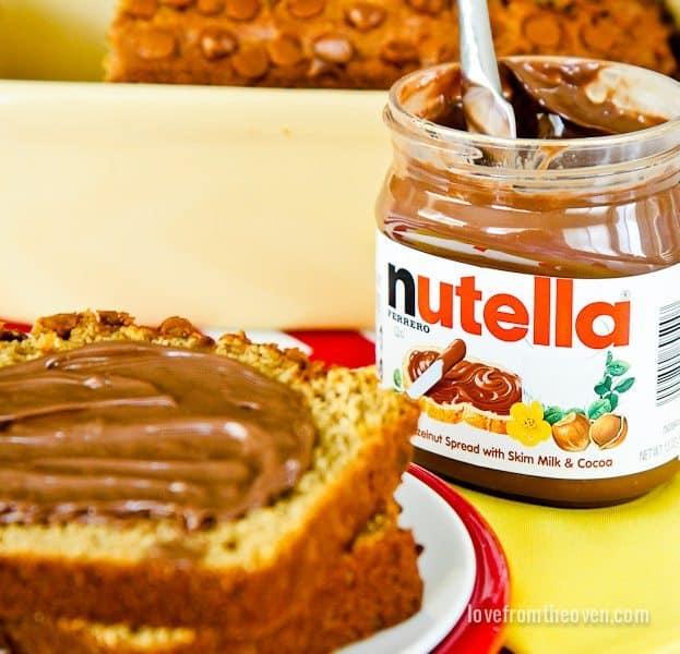 Cinnamon Banana Bread With Nutella