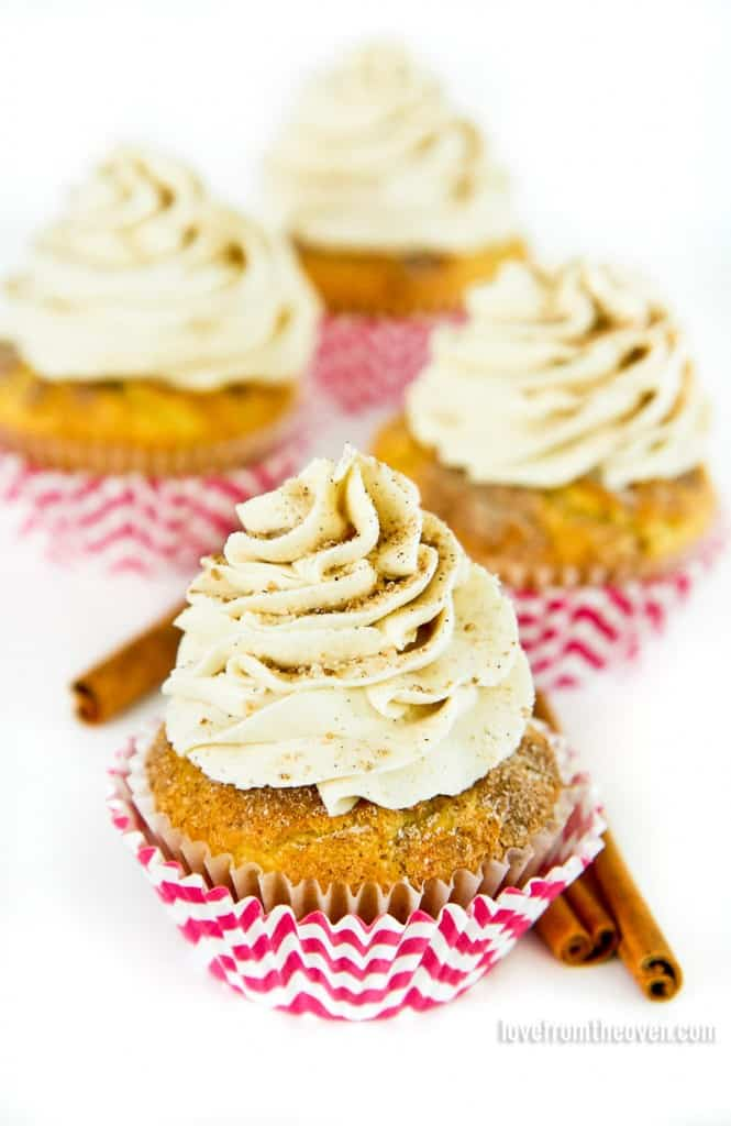 How To Make Cinnamon Cupcakes With White Cake Mix