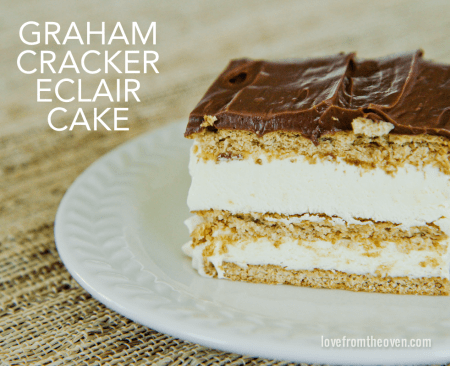 Graham Cracker Pudding Chocolate Eclair Cake