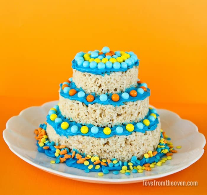 Rice krispies treats mini cakes love from the oven crispy treat mini cakes ccuart
