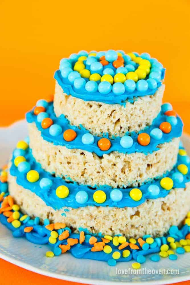 Rice Krispies Treats Mini Cakes Love From The Oven