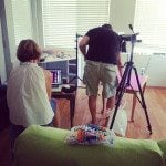 Behind the scenes shooting the Smart Cookie Cookbook