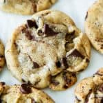 Bakery Style Chocolate Chip Cookies With Brown Butter and Sea Salt
