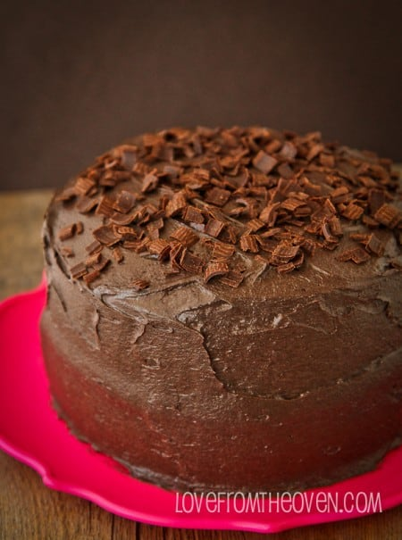 Deep Dark And Delicious Chocolate Cake