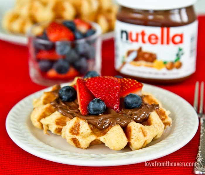 Liege Waffles With Nutella and Berries
