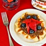 Liege Waffles With Nutella Spread