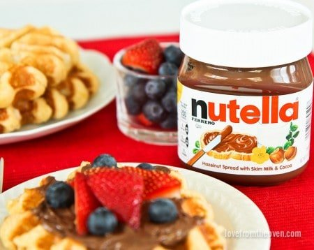 Nutella On Waffles