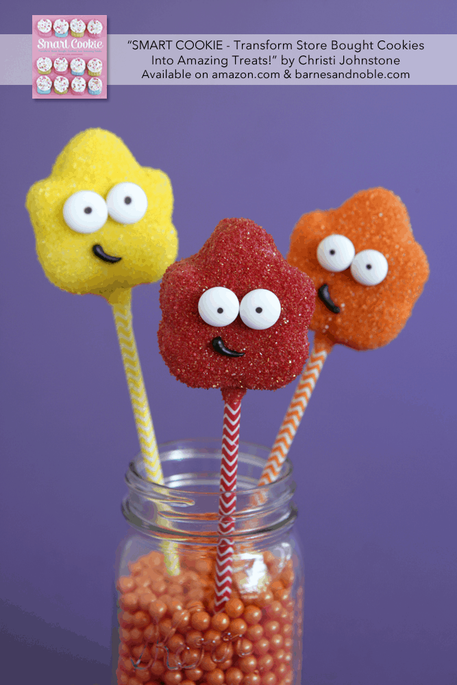 Falling Leaves Cookie Pops. Adorable recipe from the new cookbook, SMART COOKIE. Can't wait to make these for fall!