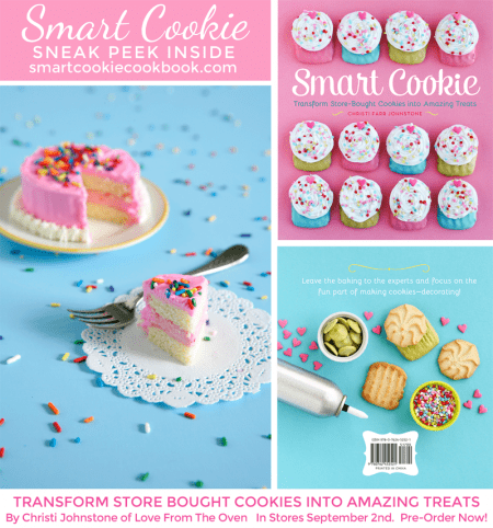 Smart Cookie Cookbook. Transform Store Bought Cookies Into Amazing Treats! By Christi Johnstone. In stores September 2nd, pre-order now on Amazon or Barnes & Noble