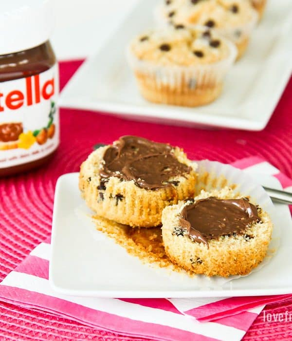 Chocolate Chip Muffins With Nutella