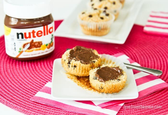 Spread The Happy by shring some muffins with Nutella #spreadthehappy