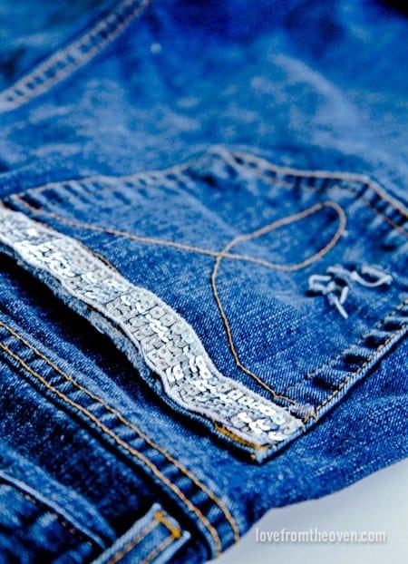 Embellishing Jeans