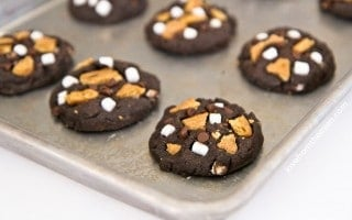 Chocolate Smores Cookies
