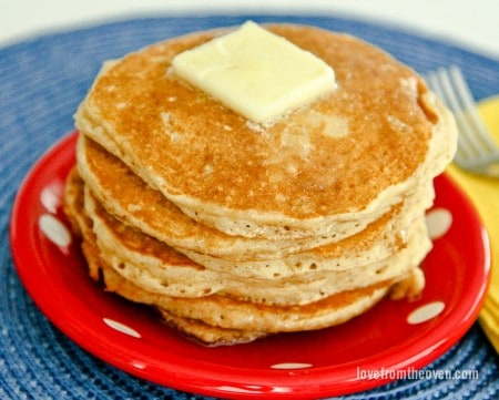 Easy whole wheat pancake recipe love from the oven easy whole wheat pancake recipe ccuart Gallery