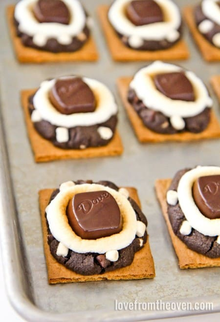 Smores Stuffed Cookies at Love From The Oven