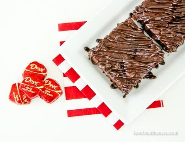 Dark Chocolate Drizzle Brownies