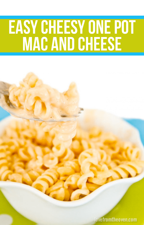 Easy Cheesy One Pot Mac And Cheese. As quick and easy as making it from a box mix!