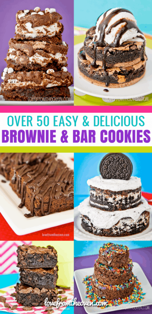 Over 50 Easy and Delicious Brownie Recipes and Bar Cookie Recipes