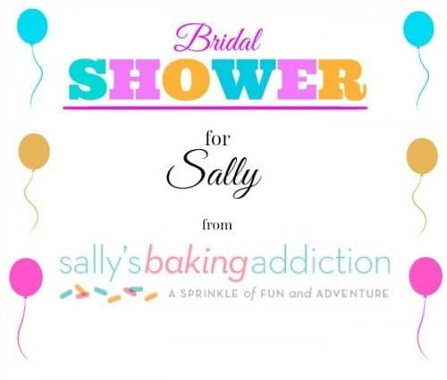 Sally's Baking Addiction Virtual Sprinkle Filled Bridal Shower