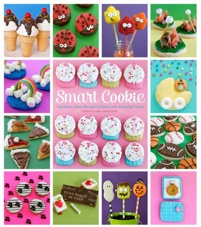 Smart Cookie Cookbook! Shows you how to transform store bought cookies into amazing treats! You can bake from scratch or pick up your cookies and skip straight to the decorating!