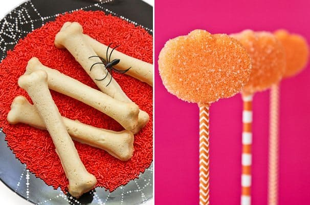 Bone Cookies And Marshmallow Pumpkin Pops