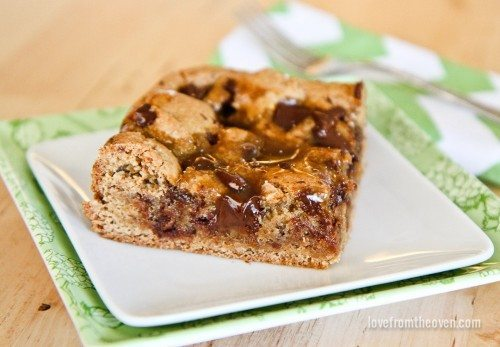 Caramel Cookie Butter Bars