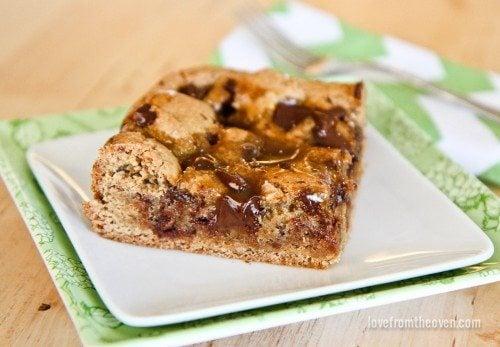 Caramel Cookie Butter Bars