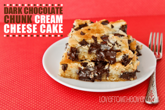 Chocolate Chunk Cream Cheese Bars