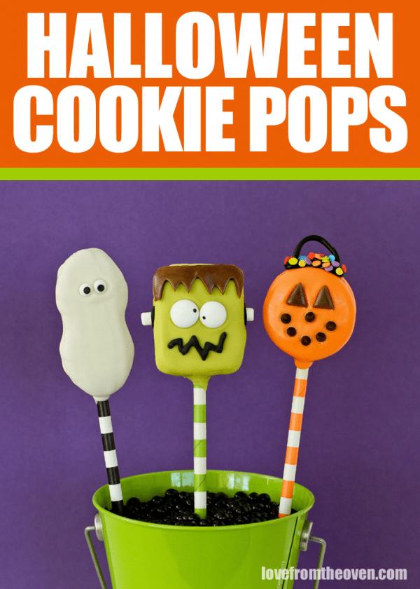Halloween Cookie Pops
