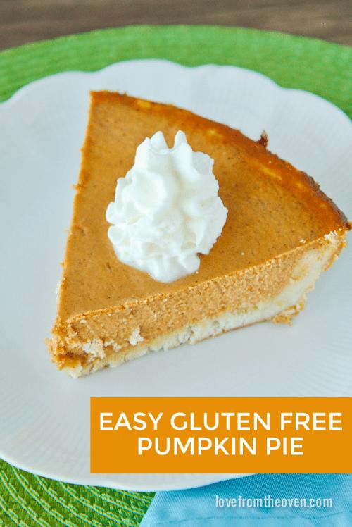 Gluten Free Pumpkin Pie Recipe With Easy Gluten Free Crust