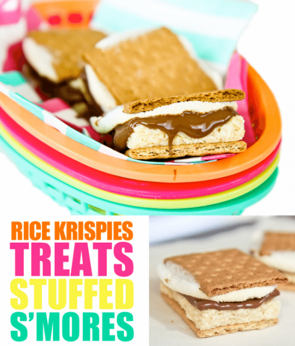 Rice Krispies Treats Stuffed Smores