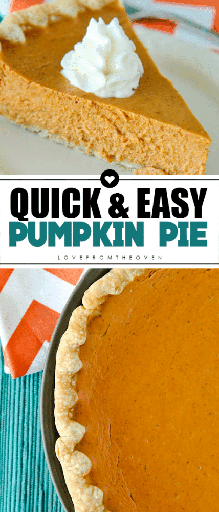 Easy Pumpkin Pie Recipe #pumpkinpie #easypumpkinpie #thanksgivingdessert