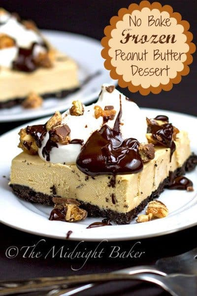 Frozen Peanut Butter & Chocolate Dessert Bars