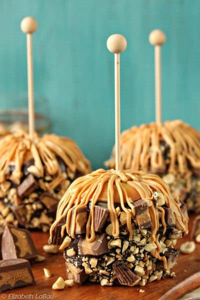Peanut Butter Cup Caramel Apples