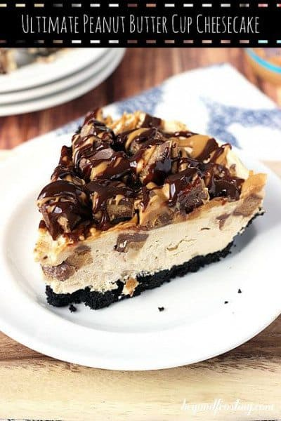 Ultimate Peanut Butter Cup No Bake Cheesecake